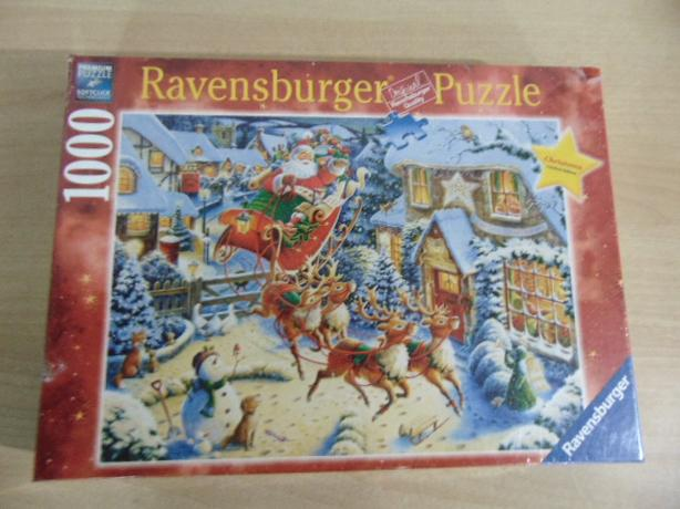 Jigsaw Puzzle Ravensburger 1000 Pc Christmas Santa's Sleigh Ride New Sealed