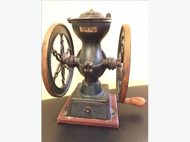 Rare Antique Cast Iron Coffee Grinder, Coffee Mill