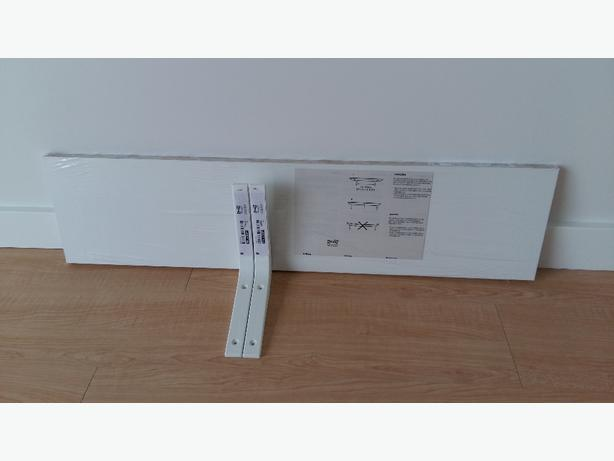 IKEA EKBY OSTEN shelf with 2 brakets