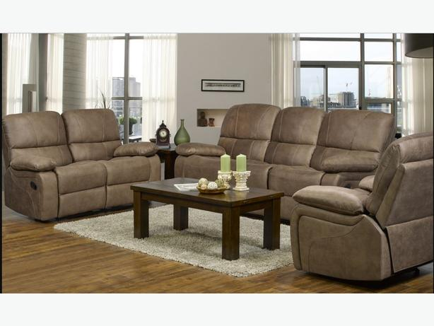 AIR SUEDE 3 PIECE RECLINER SET  ONLY 8 SETS AVAILABLE $1999.00