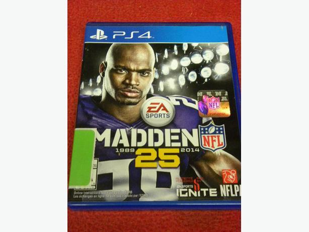 Madden 25 game for the PS4 game console