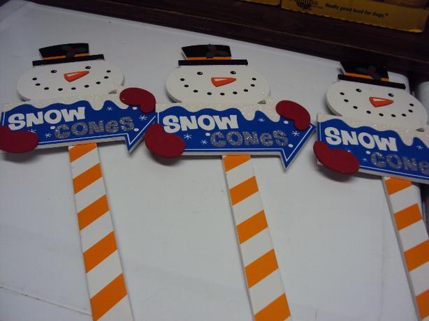 3 snowman stakes