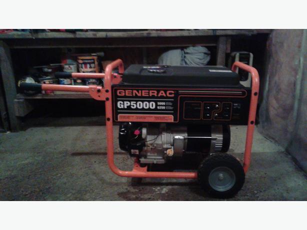 GENERAC 5000/6250 Watts Portable Gas Generator