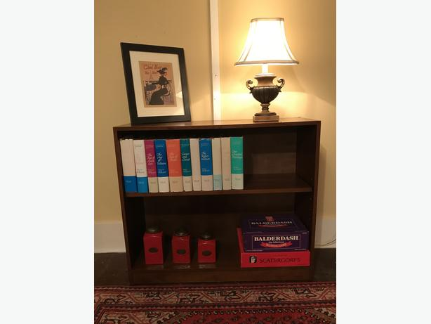 Matched Set of Dark Brown Adjustable Wooden Bookcases