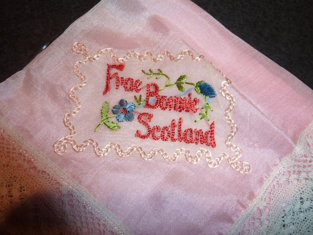"Vintage silk hanky "" Frae Bonnie Scotland"""