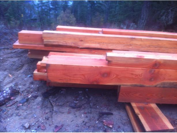 High quality freshly milled timber