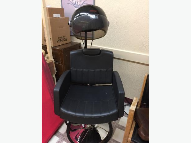 salon hair dressing dryer and chair
