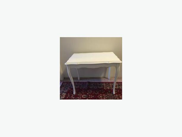 ANTIQUE WHITE SIDE/END TABLE SOLID WOOD