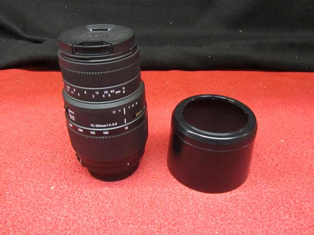 SIGMA DG 70-300mm 1 4-5.6 lens with a NIKON mount
