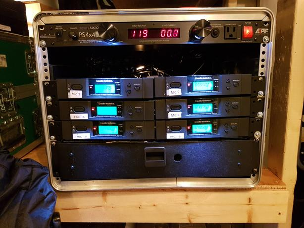 Wireless Microphone Rack - Reduced-