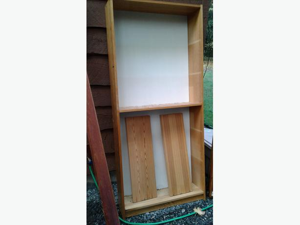 Wood shelving unit