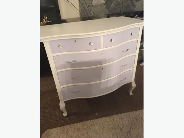 Bow Front dresser drawers solid wood