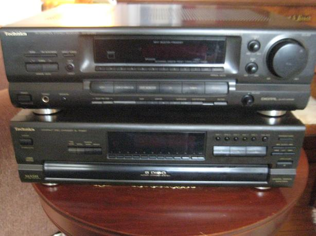 TECHNICS  RECEIVER AND 5 DISC PLAYER