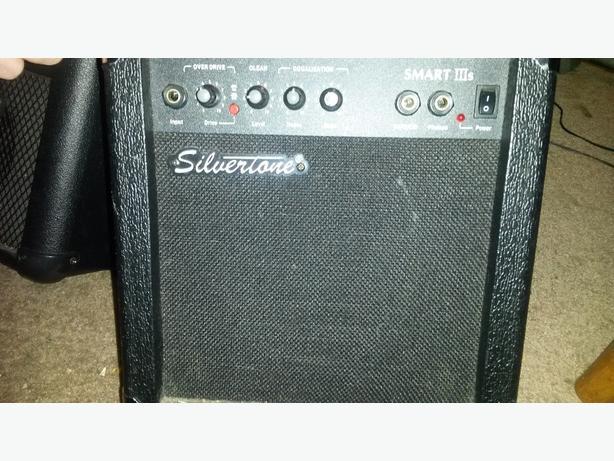 practice guitar amp Silvertone brand