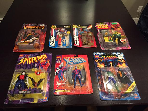 Marvel X-Men Iron Man G.I Joe Gargoles Vintage Figure Lot Of 7 & 5 Figures 94-95