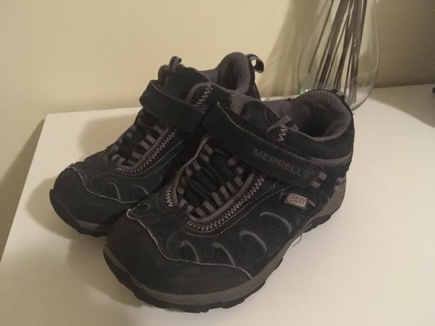 Merrel boys black waterproof boots size 12