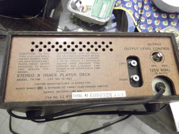 Vintage Realistic 8 track player.