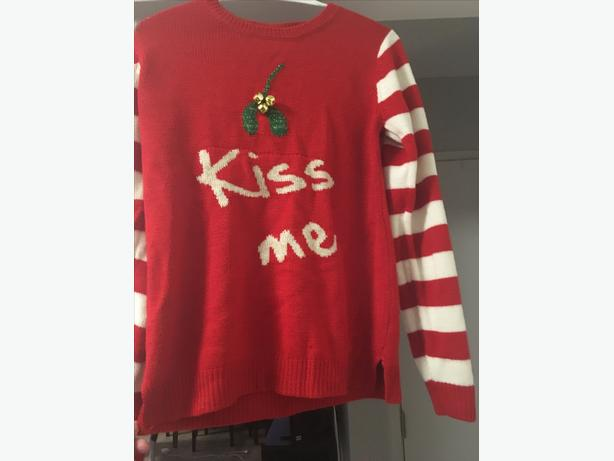 """Kiss Me"" Mistletoe -Christmas sweater"