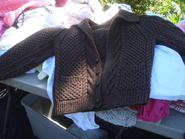 Hand Knitted Aran Pattern woolen Cardigans