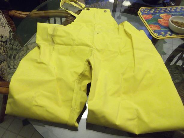 Oilskin pants -- Never worn