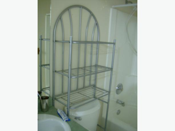 Over the toilet metal shelving