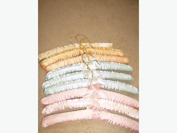 9 satin hangers