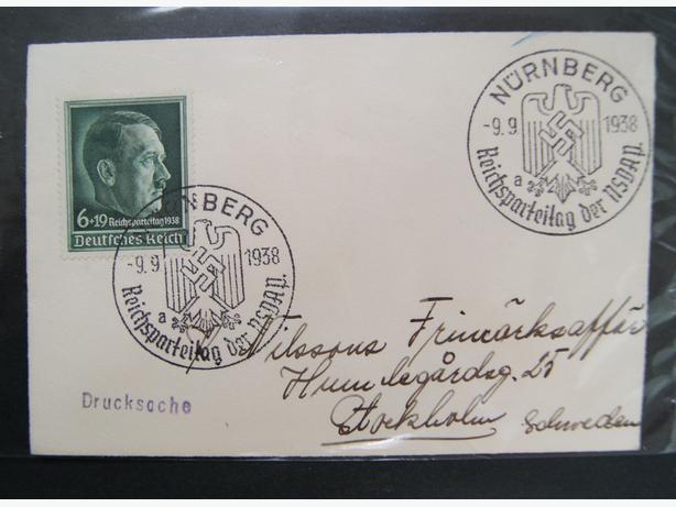 1938 Nazi Geman envelope