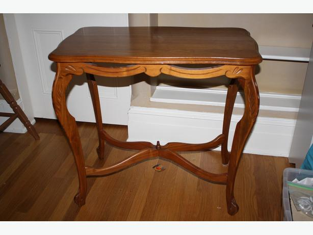 solid wood larger parlour table
