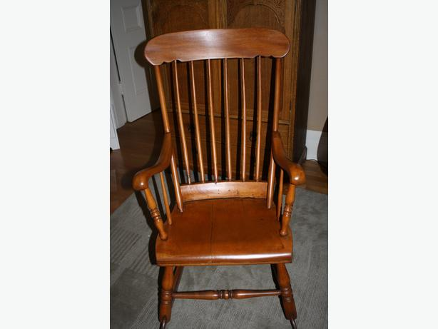 Canadiana solid wood rocking chair