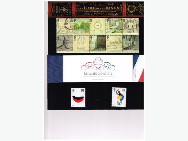UK STAMPS 2004 COMMEMORATIVE PACKS 12 PKS --75 MNH STAMPS