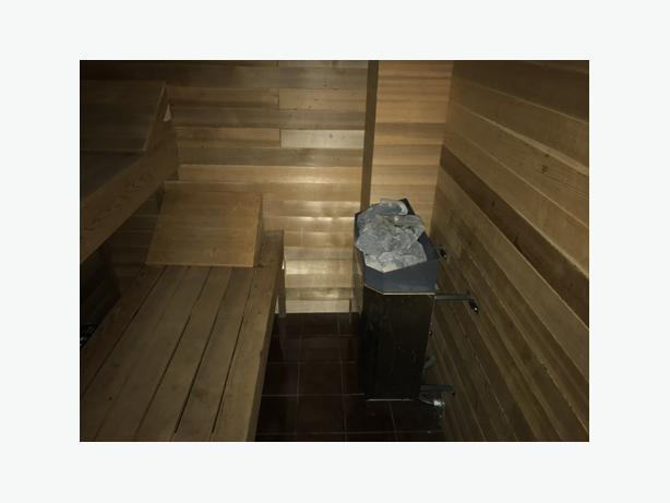 Complete In House Cedar Sauna and HSC Sauna Heater