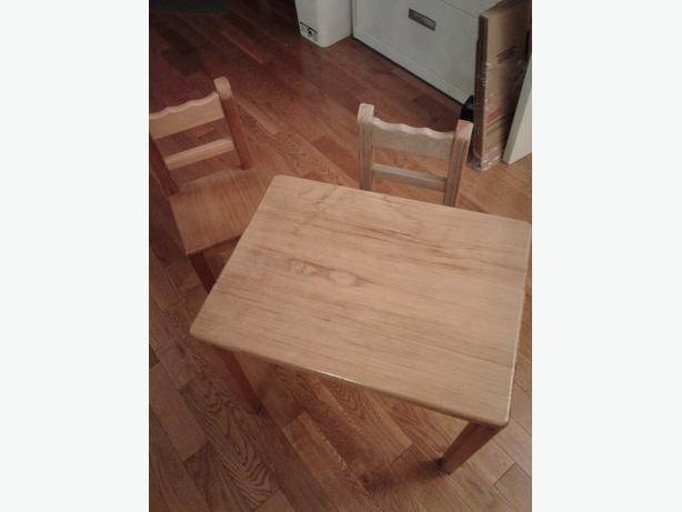 FREE: Small table and 2 chairs