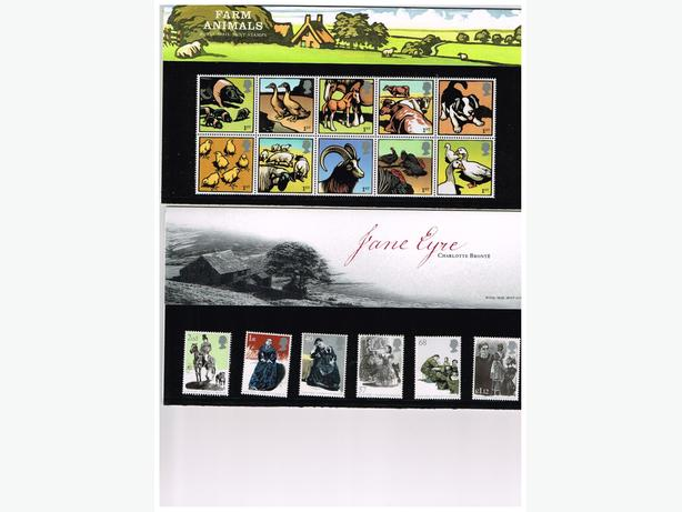 UK STAMPS- 2005 COMMEMORATIVE PACKS -15  INC. 88 STAMPS