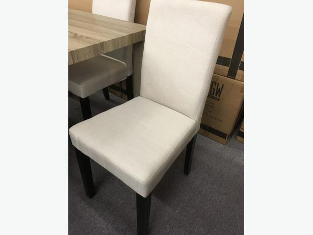 Parsons Chairs in Cream Linen or Grey Linen Fabric - Brand New!