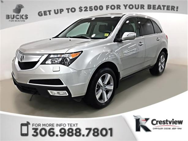 2012 Acura MDX Tech Pkg AWD V6 | Leather | Sunroof | Navigation | DVD