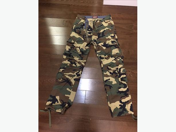 Matchstick camo pants. Size 30.