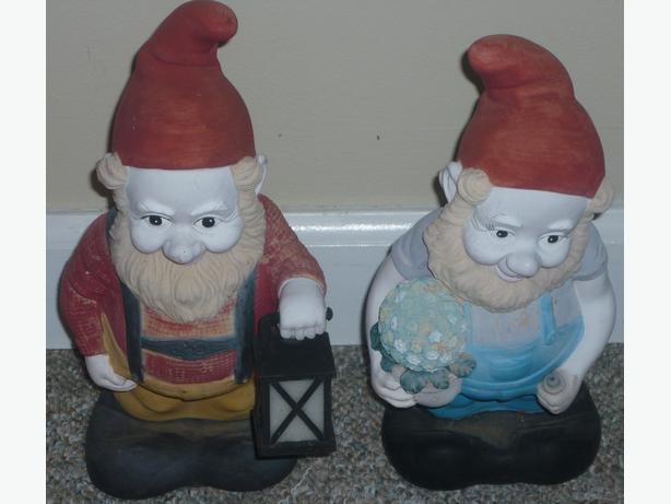 """2 11"""" Garden Gnomes"""