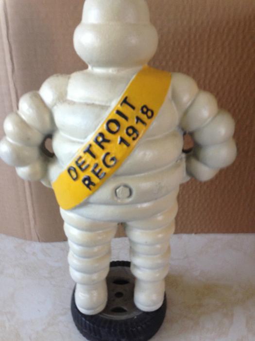 vintage cast iron michelin man tire mascot figure standing  tire rural regina regina