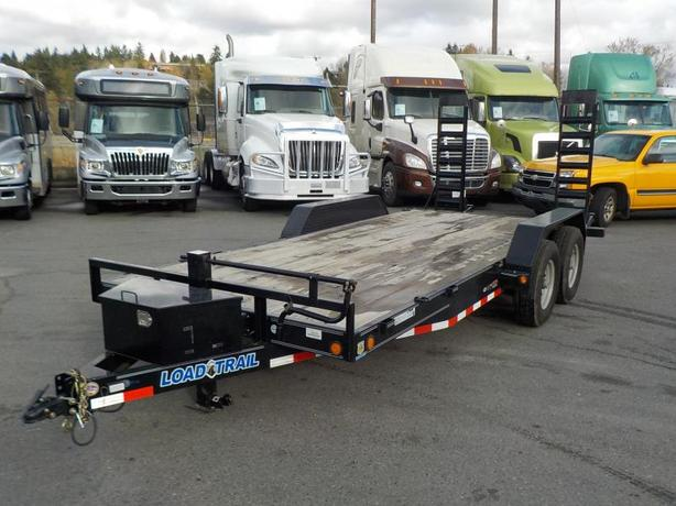 2017 Load Trail 18 Foot Flatdeck Trailer with Loading Ramps