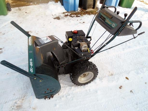 "MASTERCRAFT 10.5 HP 30"" SNOW BLOWER"
