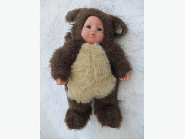 Anne Geddes Blue-Eyed Squirrel Stuffed Animal Soft Toy Baby Doll Cute
