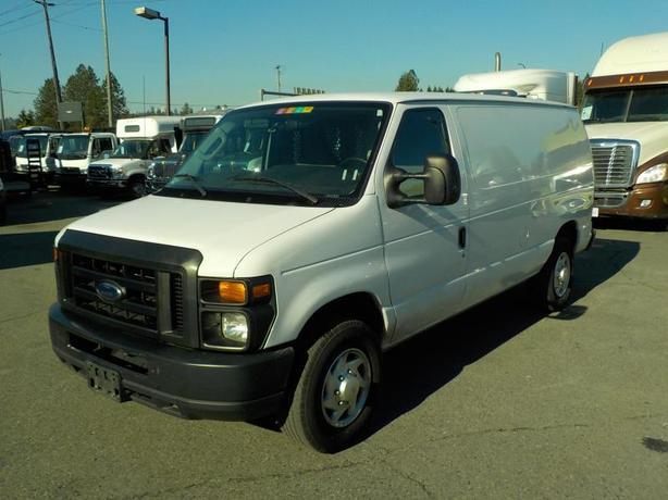 2011 Ford Econoline E-250 Cargo Van with Shelving & Bulkhead Divider