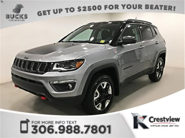 2017 Jeep Compass Trailhawk 4x4 | Sunroof | Navigation | PRACTICALLY NEW