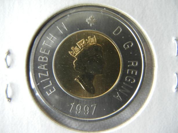 Canada 1997 Toonie $2 Dollar Proof Heavy Cameo