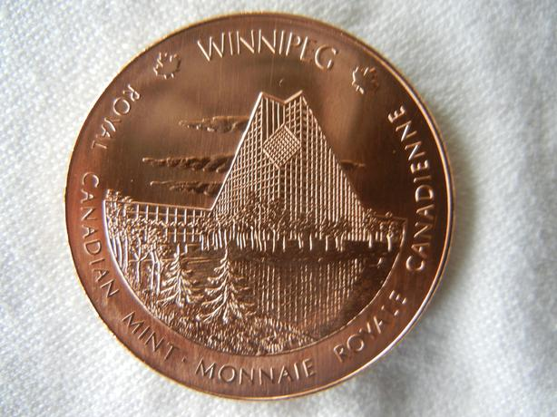 CANADA Ottawa ON & Winnipeg MB Royal Canadian Mint Buildings Medal/Coin RCM