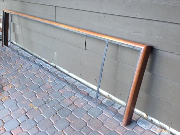 Teak frame, very sturdy, for bar counter or games, shuffleboard, etc.