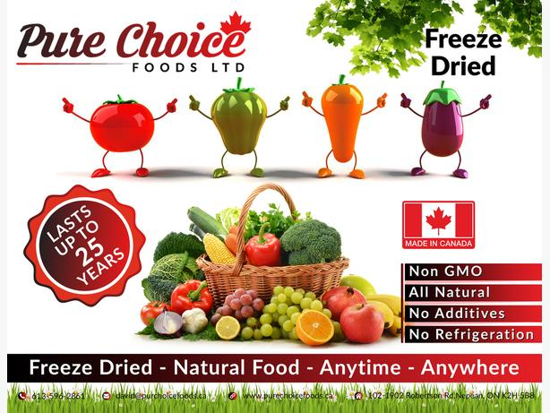 Freeze Dried Fruit & Vegetables Made In Canada