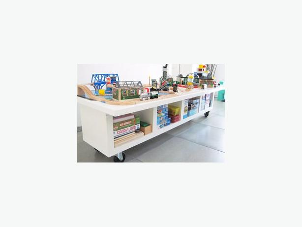 IKEA Hack train table/ craft table