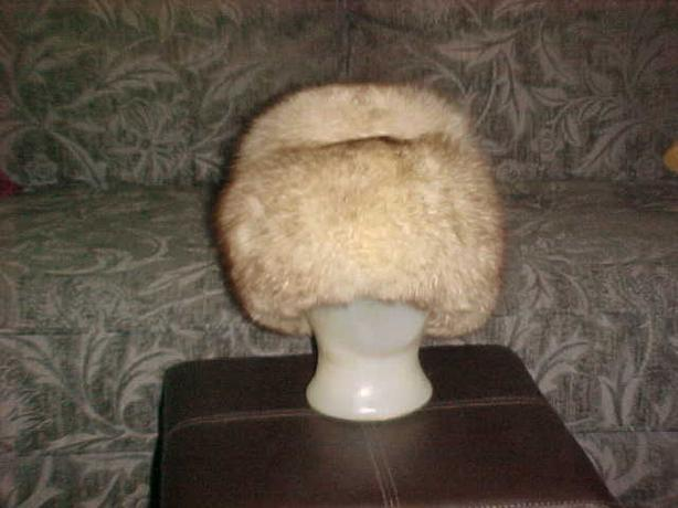 LADIES SILVER FOX FUR HAT