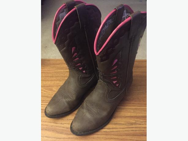 Girls Size 3 Smoky Mountain cowboy boots